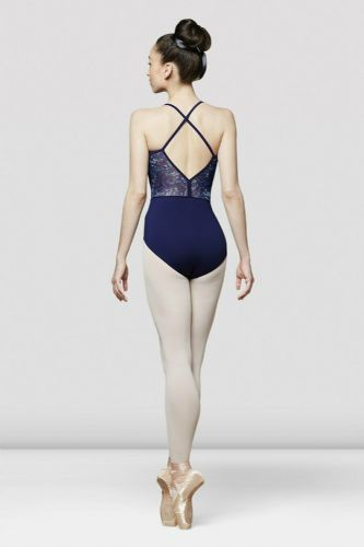 BLOCH Ladies Dance Camisole Leotard with Floral Print Mesh X Back L5547 Saskia